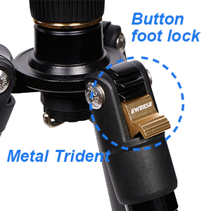 Zenghh SLR Camera Carbon Fiber Tripod Toggle Carbon Tripod Head Two-Way Level Design with Non-Slip Mats Safe and Durable Camera Bracket