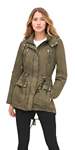 Lightweight Cotton Hooded Anorak Jacket