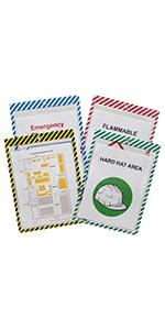 Safety Striped Shop Ticket HoldersSafety Striped Shop Ticket Holders