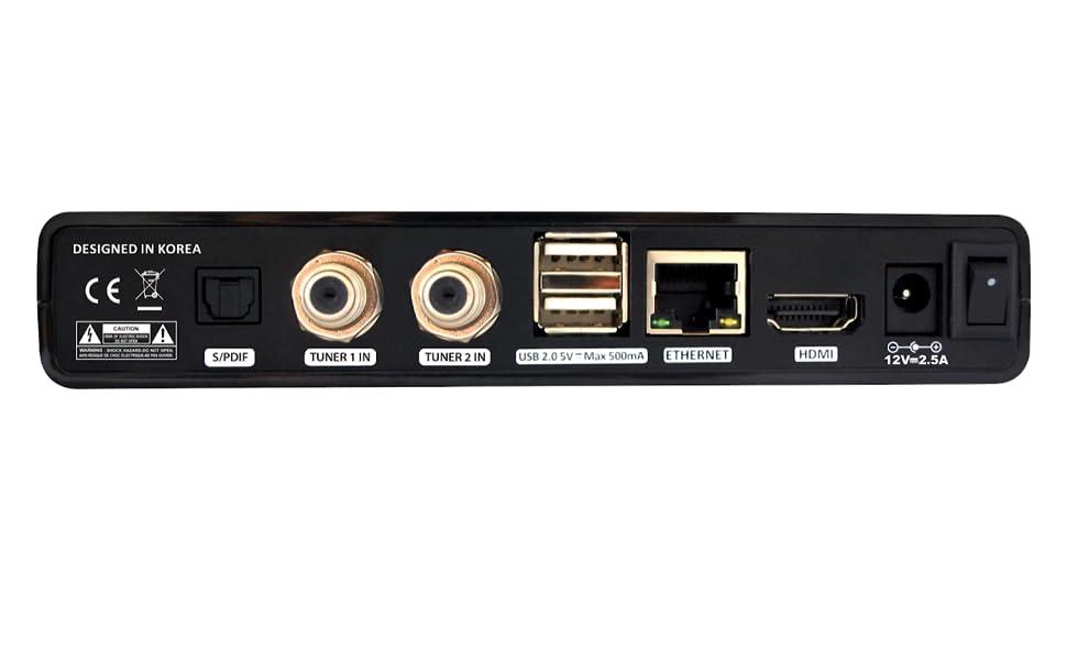 qviart Lunix 4K Twin UHD 2160p Ci Receptor Satélite Linux E2 ...