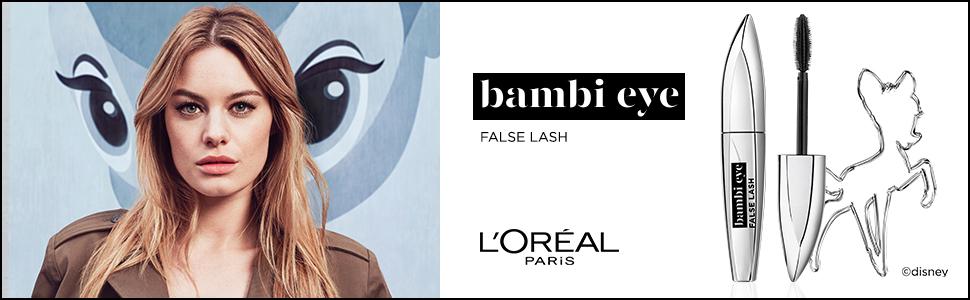 False Lash Bambi Eye, mascara, mascara, volume, lengte, swing, reeksen, open blik.