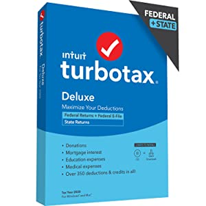TurboTax Deluxe with State 2020