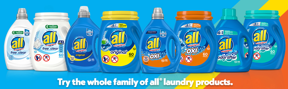 all Family of Laundry Detergent Products