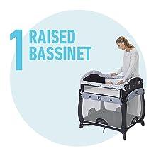 raised bassinet