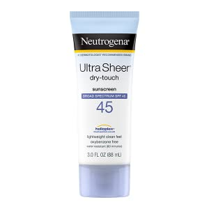Neutrogena Ultra Sheer Dry-Touch Face and Body Sunscreen Lotion with Broad Spectrum SPF 45
