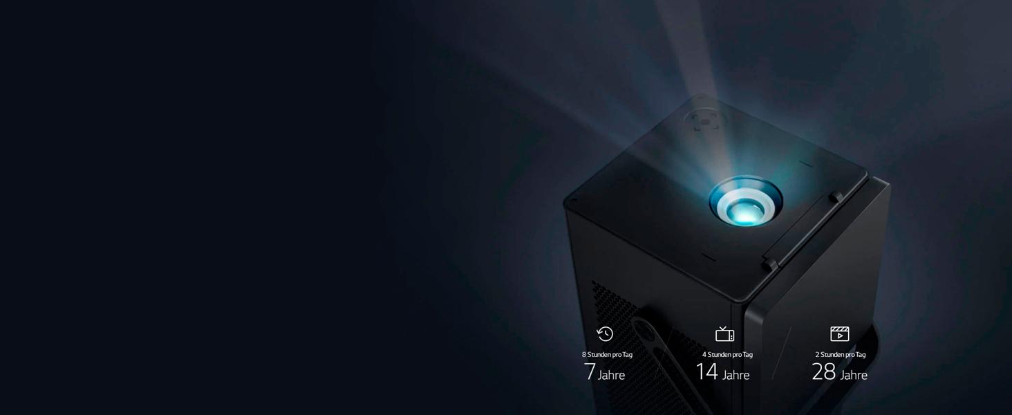 Lg Beamer Hu80ks Bis 381 Cm 150 Zoll Cinebeam Laser 4k Uhd Projektor 2500 Lumen Hdr10 Smarte Funktionen Laser 20000 Schwarz Heimkino Tv Video