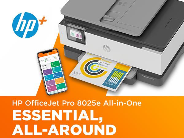 OJP 8025e ,wireless printer, all in one, inkjet, scanner, home printer, instant ink, hp+ introducing