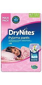 64 St/ück Bettn/ässen M/ädchen Jumbo Monatspackung 3-5 Jahre Huggies DryNites hochabsorbierende Pyjama-// Unterhosen