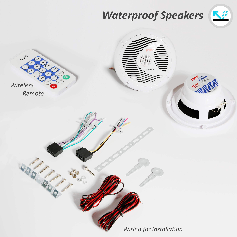 Amazon Com  Pyle Bluetooth Marine Stereo Receiver