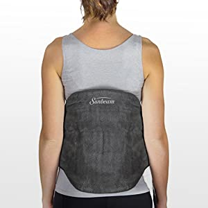 Sunbeam Contoured Back Heating Pad with Strap Get soothing, direct back pain relief from this soft