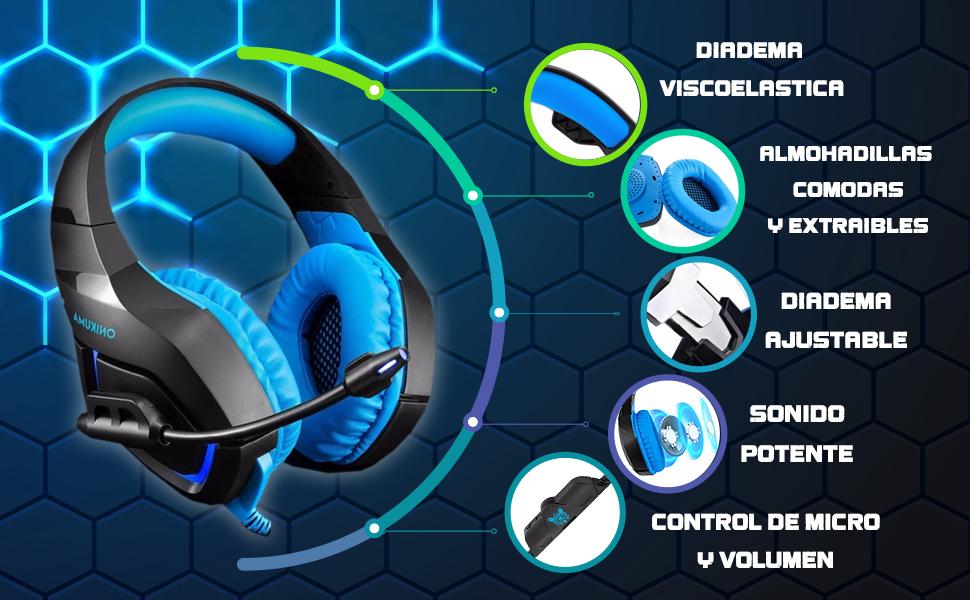 auriculares gaming, auriculares para gaming, cascos gaming, cascos para gamers, auriculares amazon