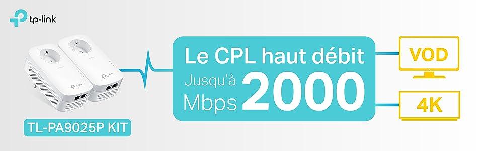 cpl av2000, cpl haut débit, cpl, cpl 2000mbps