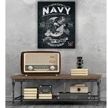 Flag with Eagle Navy Pallet Pride Wall Sign