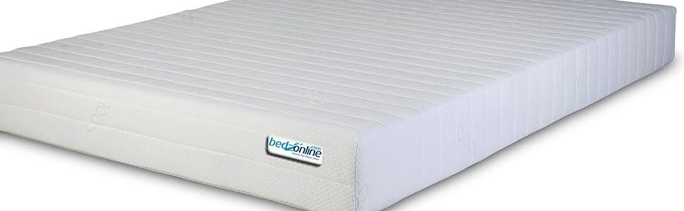 Bedzonline Memory Foam Mattress Double Amazon Co Uk Kitchen Home