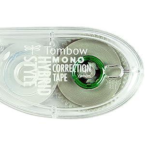 hybrid correction tape, tombow correction tape, tombow mono, bic correction