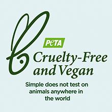 Simple Daily Skin Detox Mattifying Moisturiser is veganistisch, Simple is gecertificeerd wreedheidsvrij door PETA