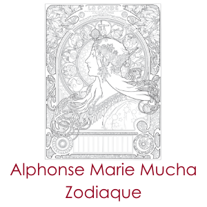 alphonse maria mucha: zodiaque