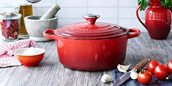 Le Creuset Dutch Oven shown in Cerise