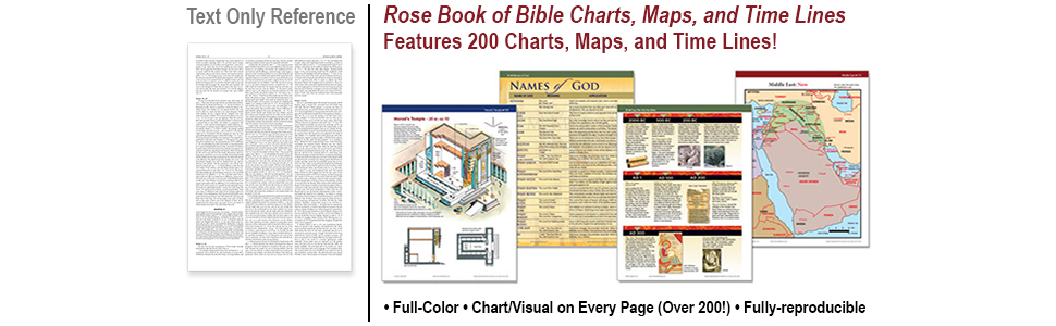 Rose Book Of Bible Charts Maps And Time Lines 8601405821942