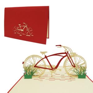 POP UP 3D Karte Geburtstagskarte Gutschein Fahrrad Venlo blau #154