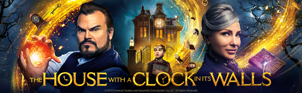 House with a clock in its walls, jack black, cate blanchett, dvd, 4k, blu-ray, movie, harry potter