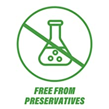 free from preservatives