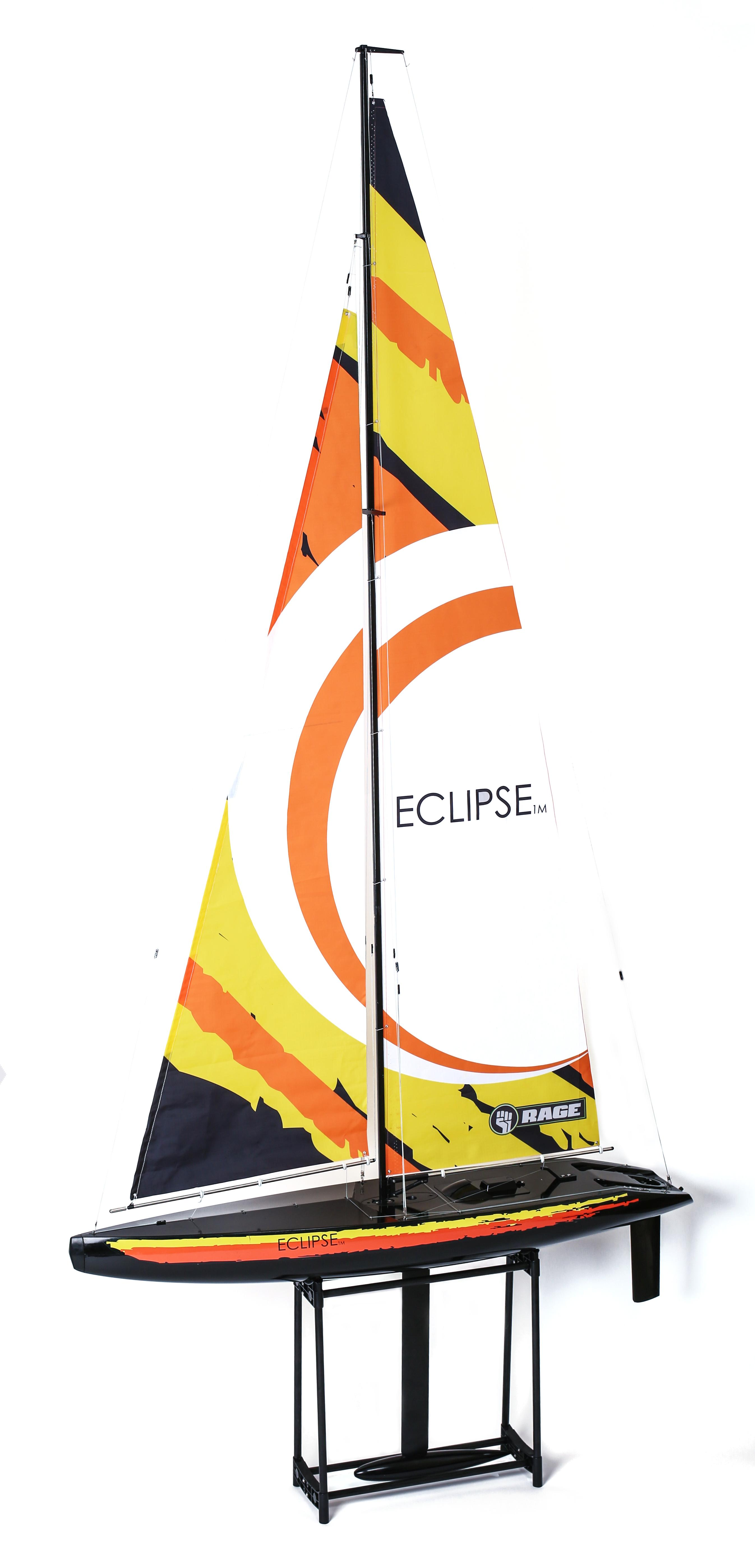 Amazon com: Rage RC B1300 Eclipse 1M Ready to Run Sailboat