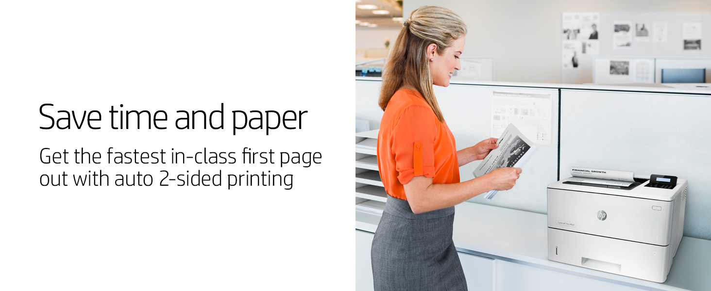 laserjet pro printer auto 2-sided printing duplex fastest first page out