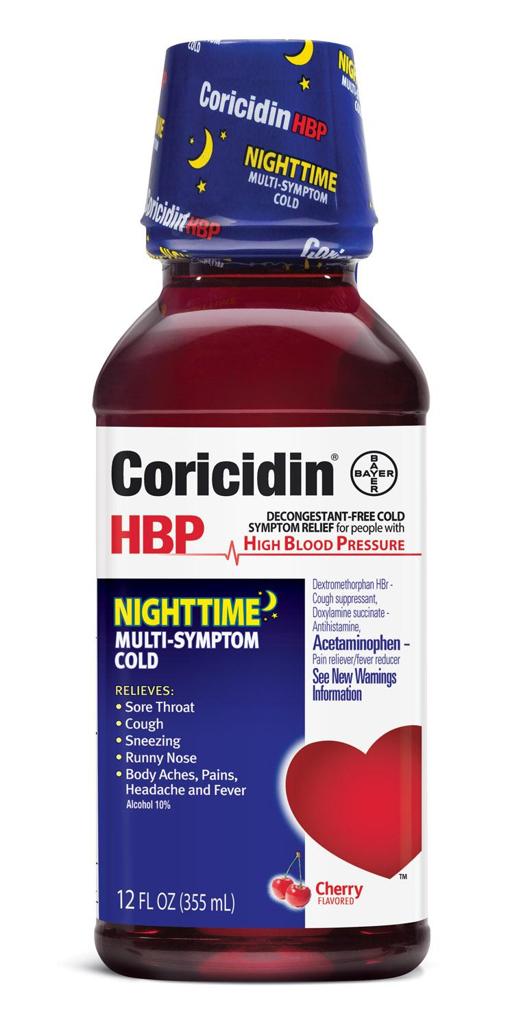 Coricidin HBP, Decongestant-Free Cold Symptom Relief for People with High  Blood Pressure, Cold & Flu