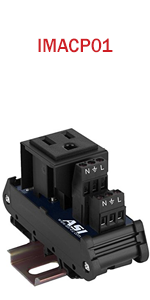 Single Three Prong Grounded AC Outlet Power Module