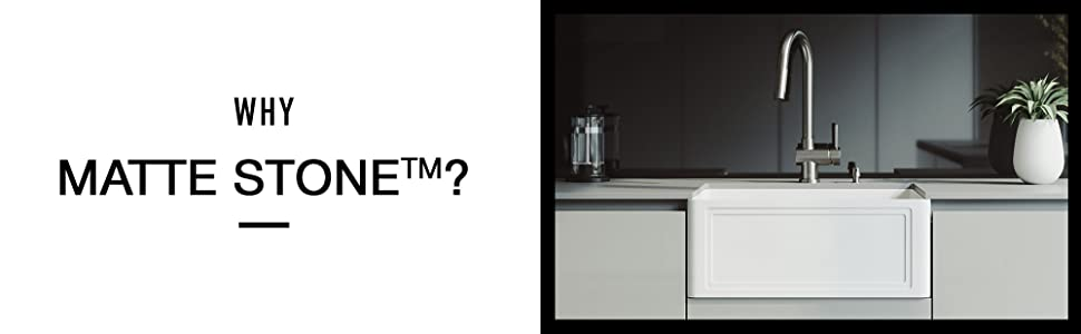 Amazon Com Vigo Vgra3318cs 18 0 33 0 W 9 63 H Single Bowl Matte Stone Reversible Slotted Front Undermount Farmhouse Kitchen Sink In Matte White With Strainer Home Improvement