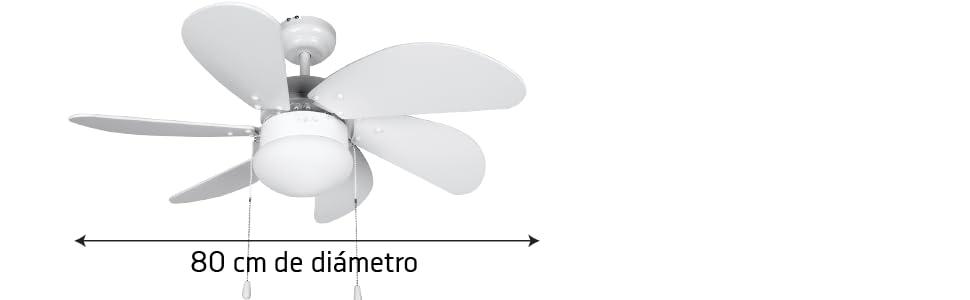 ventilador de techo con luz y mando, ventilador de techo barato, ventilador de techo silencioso