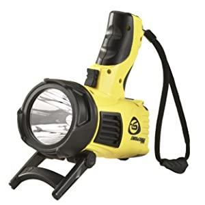 Streamlight 44900 Waypoint LED High-Performance Pistol-Grip Spotlight, yellow, with stand.