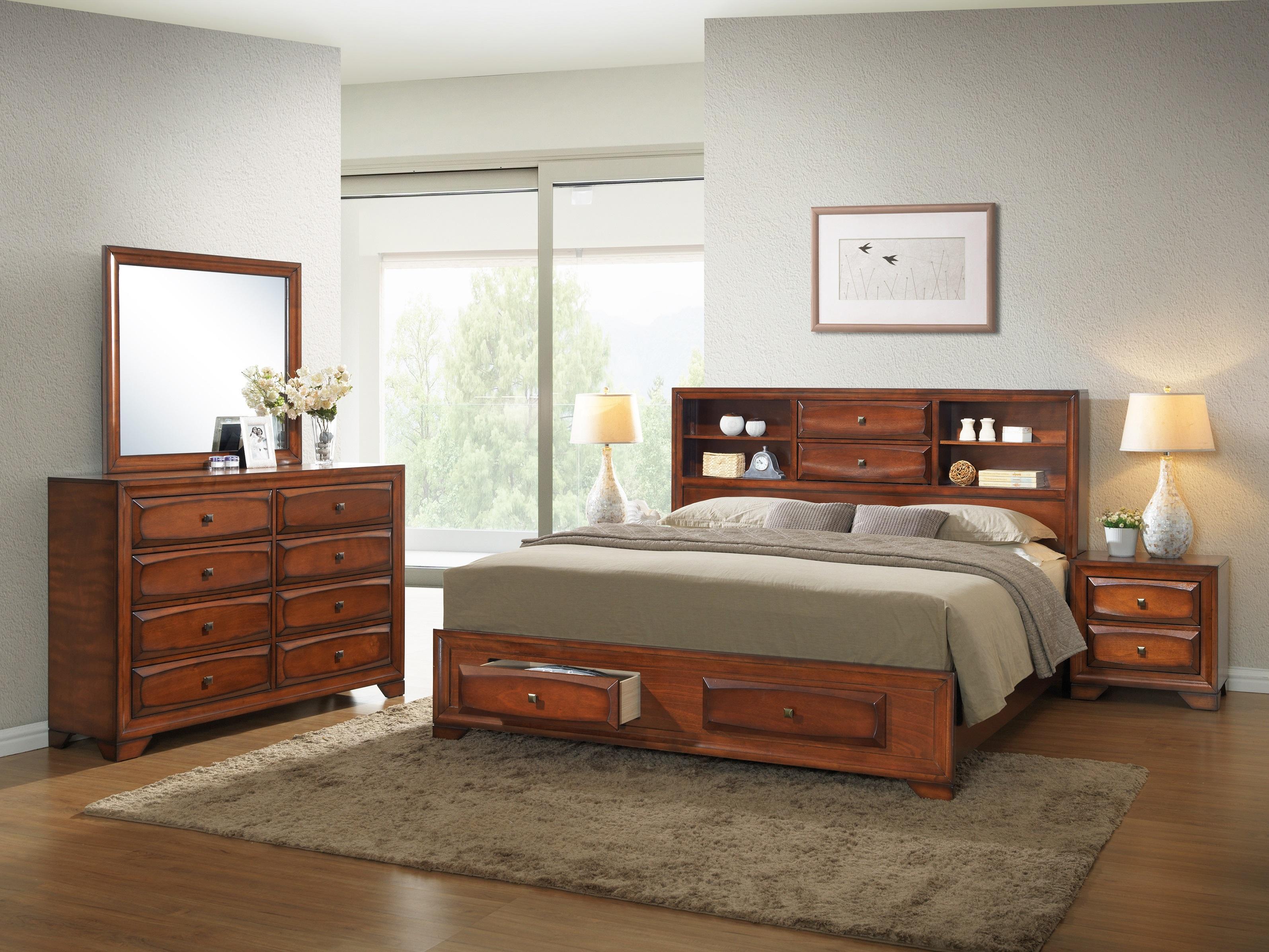 Amazon Com Roundhill Furniture Asger Antique Oak Finish