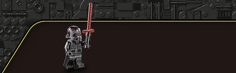 LEGO Star Wars - Microfighter Shuttle di Kylo Ren, Navicella Spaziale con Ali Regolabili, 2 Shooter e la Minifigure di Kylo Ren con una Spada Laser, Set di Costruzioni per Bambini +6 anni, 75264