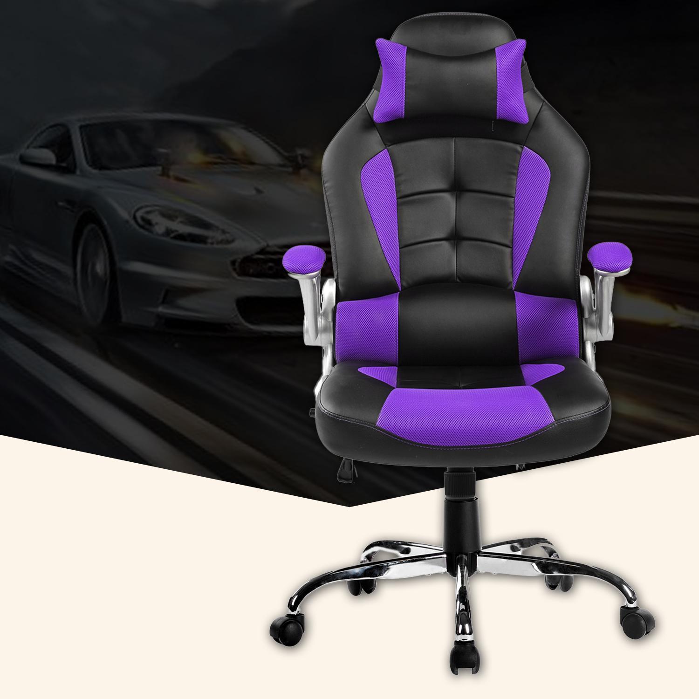 Amazon Com Merax High Back Ergonomic Pu Swivel Chair