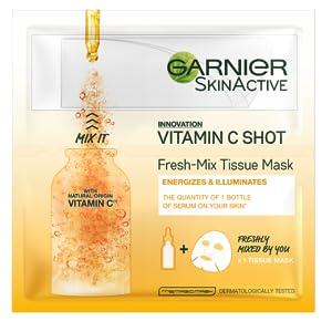 Garnier Fresh Mix Face Sheet Shot Mask With Vitamin C 33g