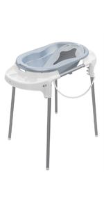 Blau Rotho Babydesign TOP Badestation Wanneneinsatz und Ablaufschlauch Wannenst/änder 0-12 Monate Mit Baby Badewanne 21042 0287 01 Cool Blue