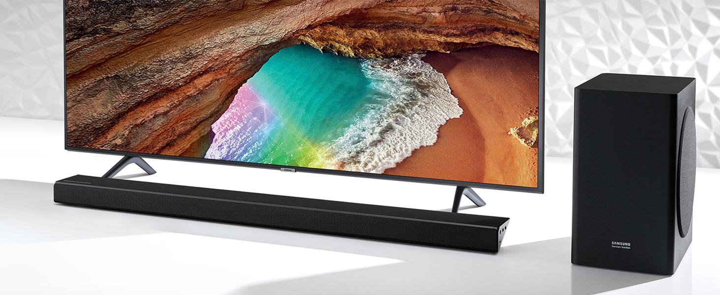Barra de Sonido Samsung | Harman Kardon HW-Q60R 5.1Ch 360W con subwoofer inalámbrico y tecnología Acoustic Beam: Amazon.es: Electrónica