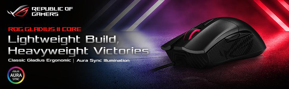 ROG Gladius II Core optical gaming mouse