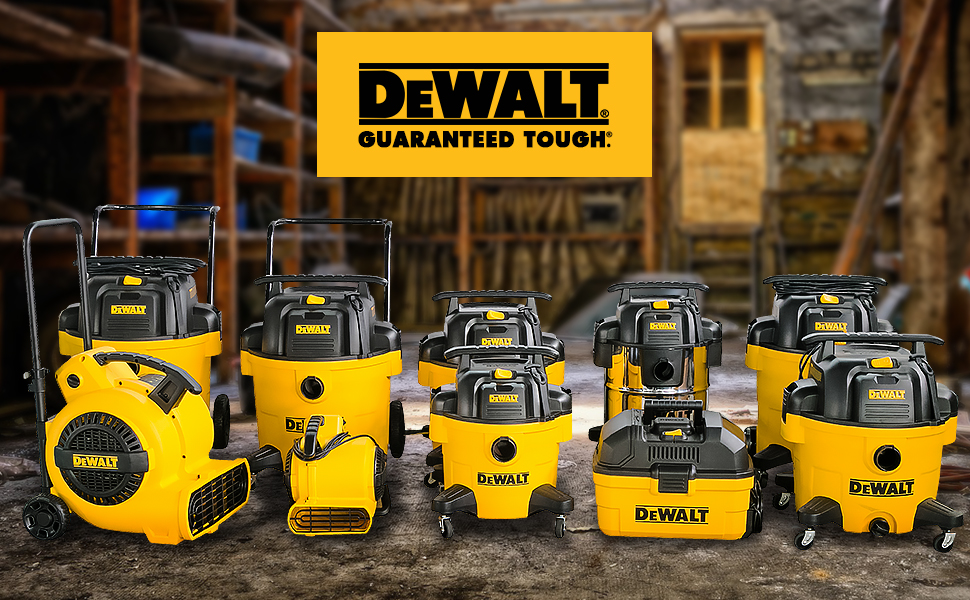 dewalt 4gal 6gal 9gal 10gal 12gal 14gal 16gal shop vac and air mover