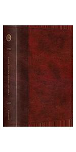 ESV Single Column Journaling Bible, Large Print, Burgundy/Red, Timeless Design