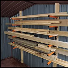 Lumber Storage Rack Portamate Pbr 001 Six Level Wall