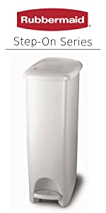 Amazon.com: Rubbermaid Step On Lid Slim Trash Can for Home ...