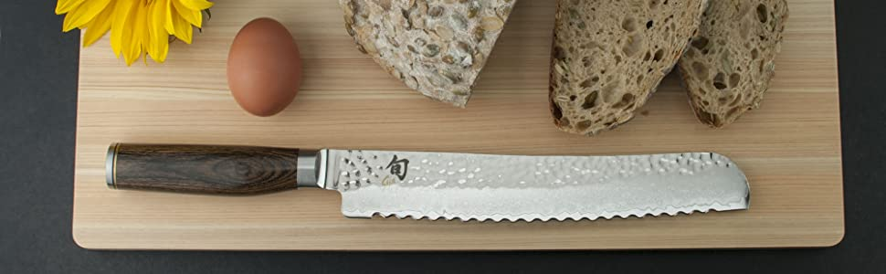 shun classic chef knife, santoku, shun premier knife line, made in japan kitchen knife