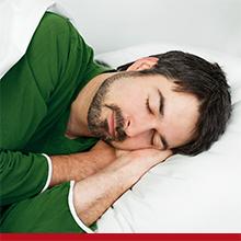 man sleeping calmly