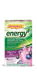 Emergen-C, EmergenC, Energy Drink Mix, Energy Powder, Natural Caffeine, Energy Gummies, Green Tea
