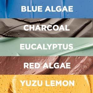 masks, clay masks, multi-masking, pure clay, black mask, charcoal mask, algae, yuzu lemon