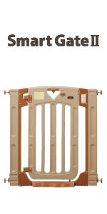 日本育児 ベビーゲート/ペットゲート スマートゲイト II 6ヶ月~24ヶ月対象 扉開閉式の突っ張りゲート 幅木よけつき ベビー用品 ベビー 赤ちゃん キッズ用品 キッズ 子供 こども 子ども