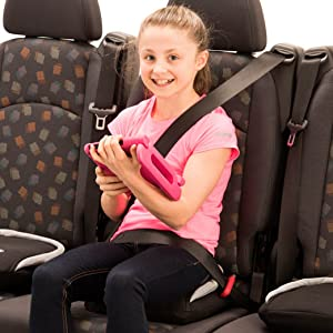 bubblebum car booster seat backless inflatable narrow forward-facing kid convenient vacation no back